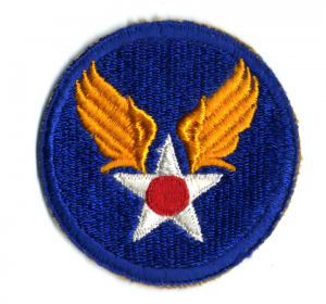 WW2 US Army Air Force Navigator Wings Cloth Patch White on Black